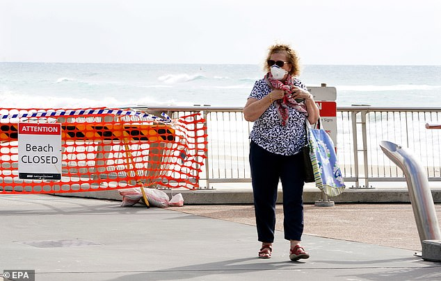 Several Gold Coast beaches including Surfers Paradise and Coolangatta were closed on Tuesday to maintain physical distancing in an effort to stop the spread of the coronavirus