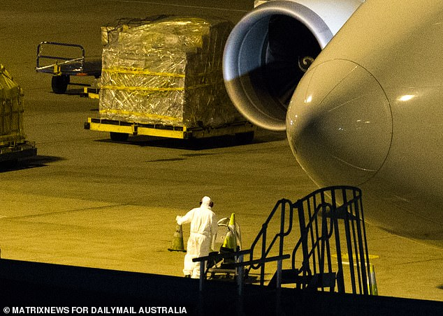 The 500 cubic metres of cargo included one-million face masks, protective gowns, goggles, gloves, shoe covers, antiseptic wipes and coronavirus testing kits