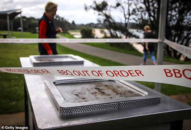 Restrictions have seen the closure of parks, beaches, public BBQ (pictured on April 7 at Mollymook on NSW's south coast)