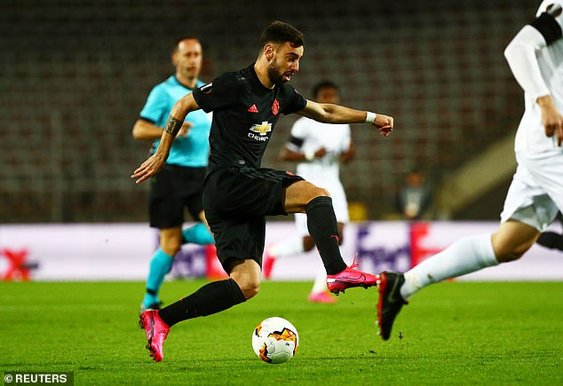 Fernandes scored three goals and provided four assists in just nine appearances for United