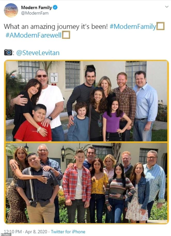 Grown:The Modern Family Twitter also shared a photo of the cast from the first season and another from the final season, showing how much everyone has grown