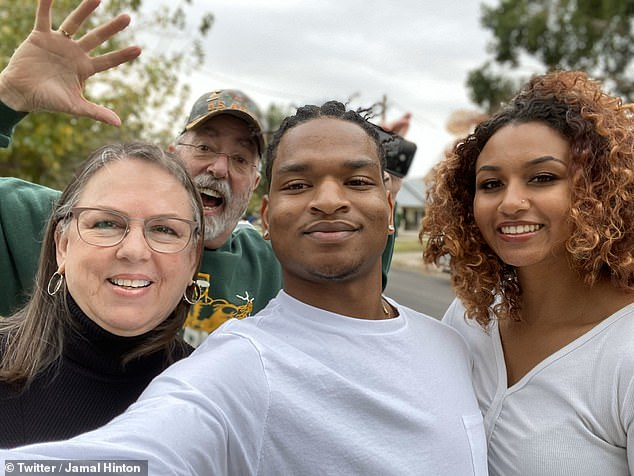 Hinton and his girlfriend pictured with the couple. Besides Thanksgiving, the group routinely met up for dinners