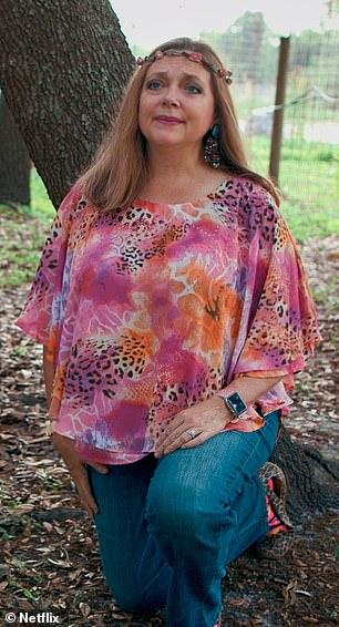 Carole Baskin, founder of Joe Nemesis, Big Cat Rescue, in Tiger King