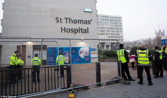 Boris Johnson is still in intensive care at St Thomas Hospital in central London today, although the Prime Minister's condition is expected to improve.