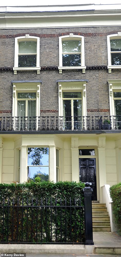 Usually Mr. Jenrick and his family live at his home in central London, pictured