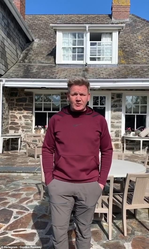 Not happy: it was only recently that Gordon Ramsay and his family angered residents for fleeing to their 4 million pound seaside home in Cornwall to seek isolation during the crisis.