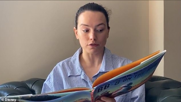 Story time: Daisy Ridley thrills fans by reading a Star Wars-themed children's book to share her gratitude to fans for staying indoors amid coronavirus crisis