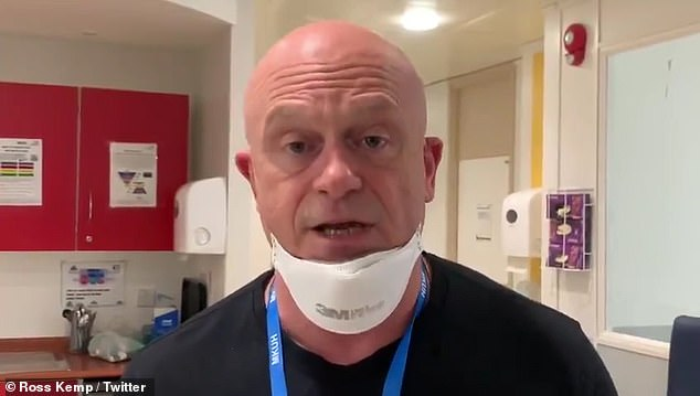 Controversy: Investigative reporter, 55, went to Twitter on Friday to share a video of him wearing PPE mask inside the hospital after announcing his new show