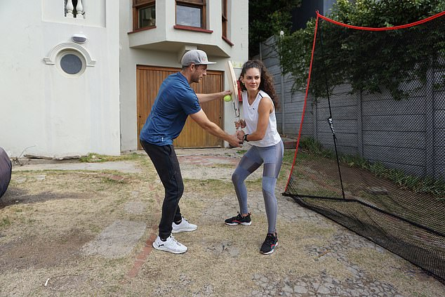 Cricket coach Gio Colucci taught his model girlfriend how to overcome the challenges of isolation
