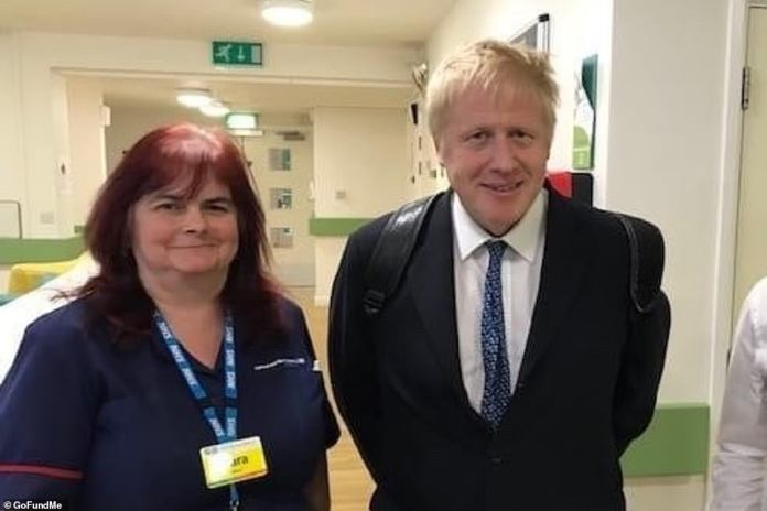 Sara Trollope (pictured with Prime Minister last year), 51, was only months away from retirement when she became another hero named deadly virus victim on Saturday