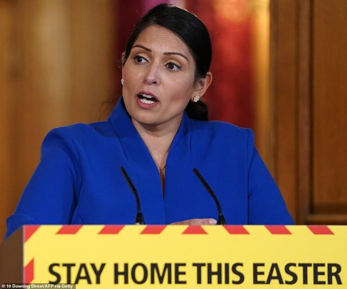 Boris Johnson still needs time to rest after going into intensive care, Interior Secretary Priti Patel said today as No10 said he was