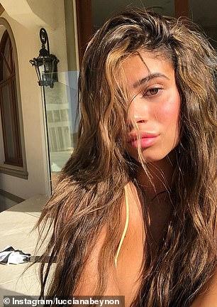 'Hair full of secrets,' she captioned the post, alongside a lion emoji