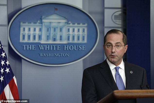 The President said that Alex Azar, the United States Secretary of Health and Human Services