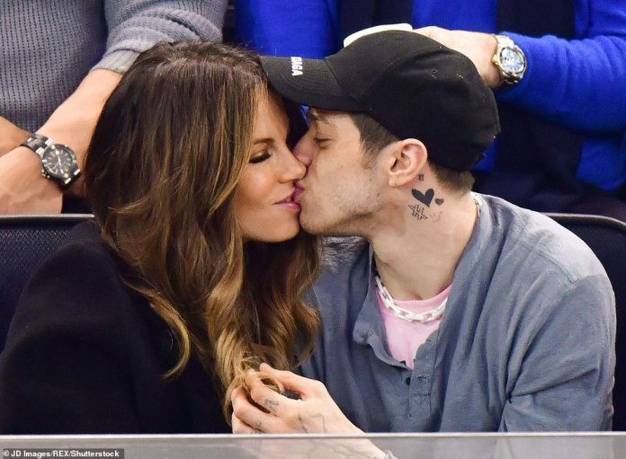 Lips locked! Kate had a four-month romance with Pete Davidson, then 25, in 2019