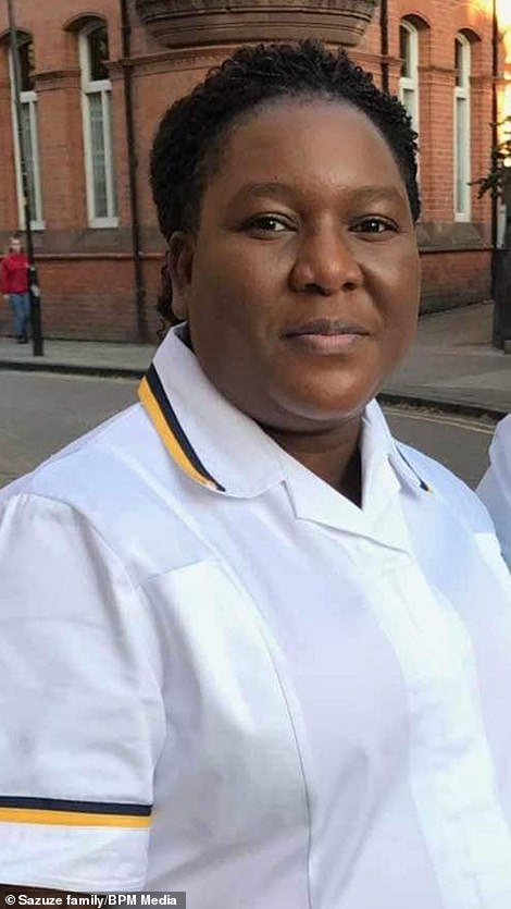 Elsie Sazuze, 44, fell ill at home before being taken to Good Hope Hospital in Sutton Coldfield, Birmingham, where she died last Wednesday