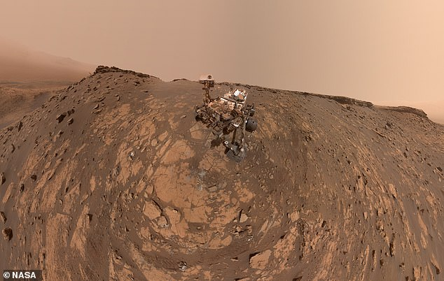 NASA car-sized Curiosity rover explores the Red Planet from its landing inside the Gale Crater Inn August 2012