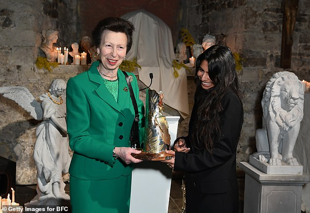 Princess Anne claimed that the youngest members of the royal family were guilty of trying to `` reinvent the wheel '' regarding their approach to royal office. Pictured at British Fashion Week in February