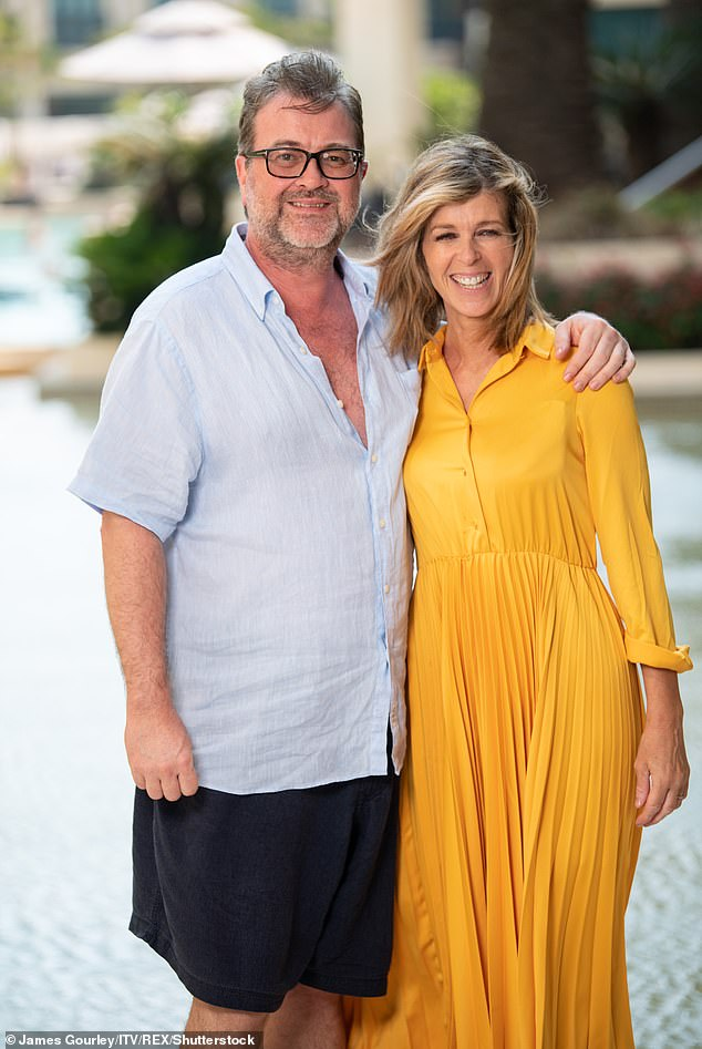 Fight: 45-year-old Good Morning Britain presenter got emotional in Thursday's episode of the show after Kate told fans that Derek was still in a `` deeply critical state '' in intensive care ( the couple photographed in December 2019)