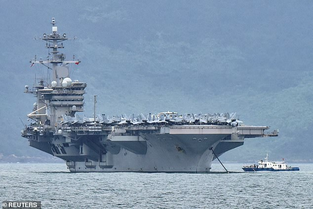 The USS Theodore Roosevelt was the center of a COVID-19 outbreak in March after crew members tested positive for the disease