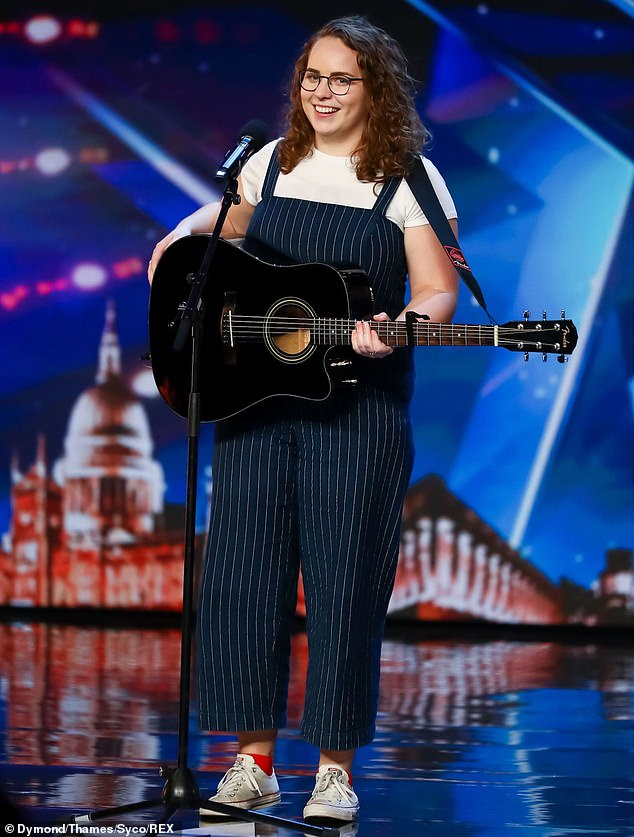 Amazing: Beth, who sings to children with cancer at Great Ormond Street Hospital, joined a host of hopefuls who aimed to impress during the 17 auditions series that were filmed earlier this year before the British COVID lockout -19