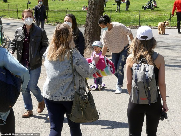 Families are seen enjoying the popular tourist destination amid the pandemic
