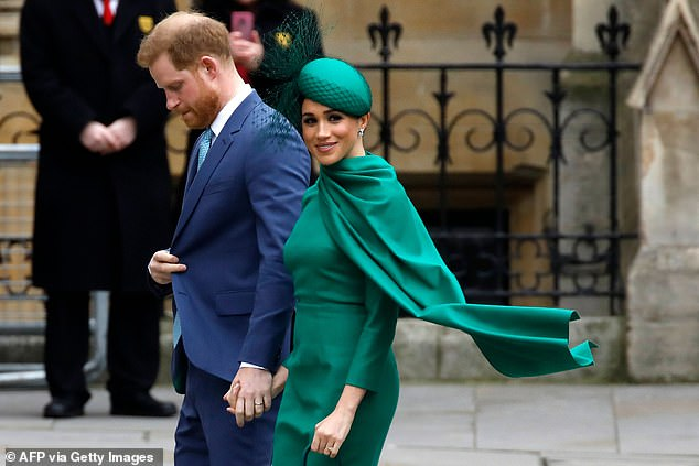 The ex-Royals are pictured on March 9 as they arrive to attend the annual Commonwealth Service at Westminster Abbey in London