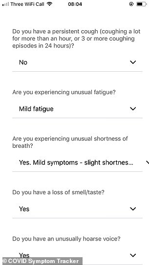 Questions about COVID Symptom Tracker