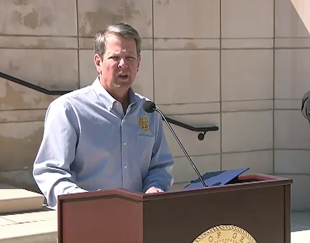 Georgia Governor Brian Kemp unveiled plans to allow businesses shutdown amid the coronavirus pandemic to reopen by the end of the week on Monday as government plans to ease restrictions locking and reopening the local economy