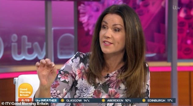 Questions: Susanna Reid, 49, said Victoria would give up her own wages and donate to food banks and asked what more she should do.