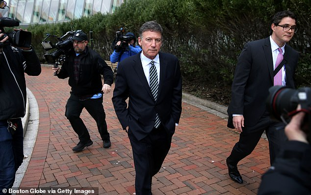 Bruce Isackson is pictured leaving Boston court last April