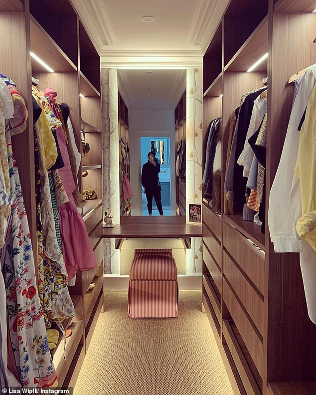The cupboard of dreams!The couple also have a walk-in wardrobe in the master bedroom, which is filled with Lisa's collection of designer goods