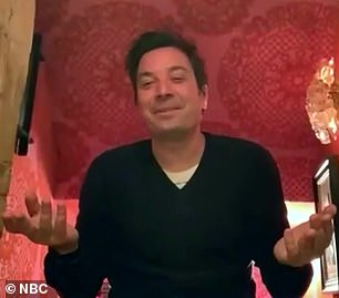 'He had to get up and do the Heimlich,' she told Fallon