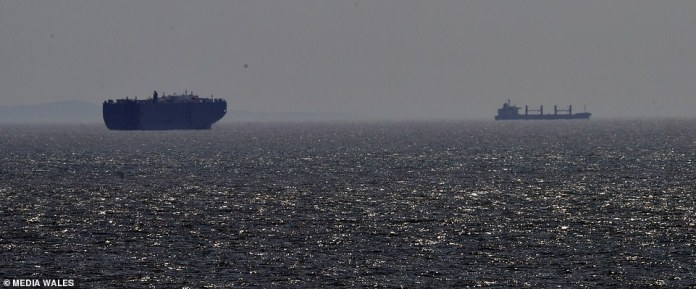The ships were placed in the Bristol Channel as they waited to dock at Port Talbot after the first group arrived at the weekend