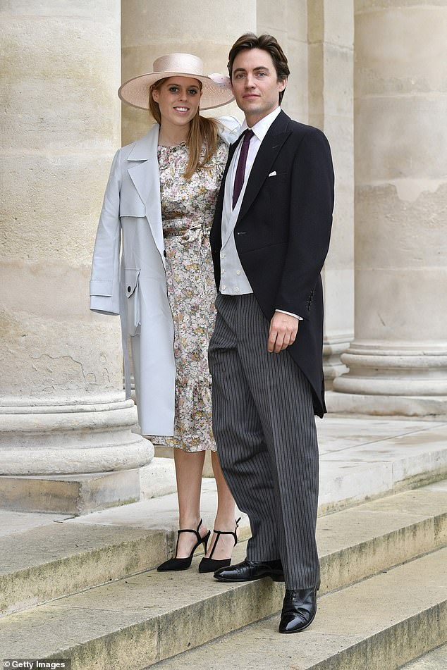 Princess Beatrice was due to marry Edo in a ceremony at the Chapel Royal today, followed by a reception in the grounds of Buckingham Palace, but the wedding was postponed amid the coronavirus pandemic