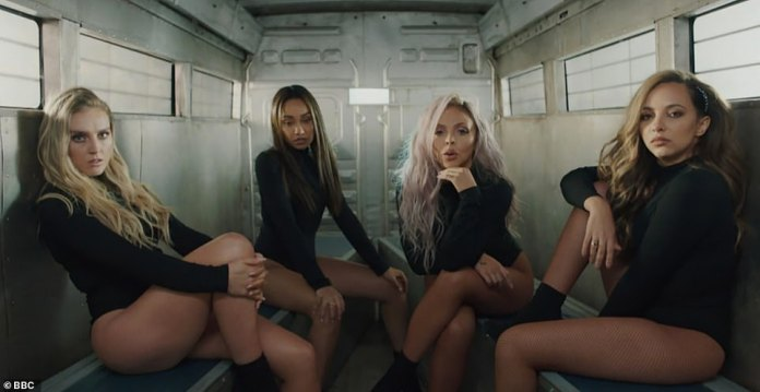 Delay: the group's series of competitions was due to be broadcast in April, but was postponed due to the pandemic (Jesy and Jade pictured with Perrie Edwards and Leigh-Anne Pinnock)