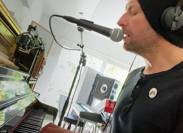 Appearance on List A: The sensational ensemble was completed by Chris Martin of Coldplay, who recorded the song from his home studio