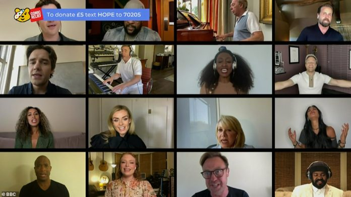 Iconics: Danny O'Donoghue's appearances from script (top left), Shaggy (second top left), composer Andrew Lloyd Webber (second top right), Olly Murs (second line, right) and Jason Donovan ( second bottom) right fans happy