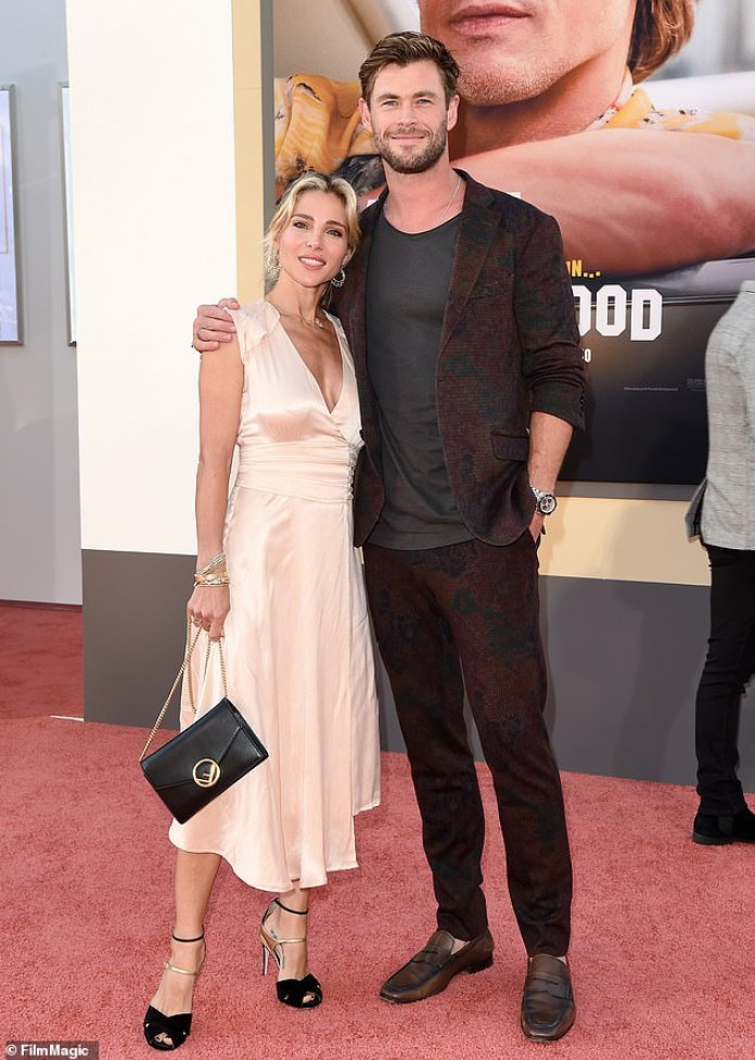 Starstruck: Chris Hemsworth, 36, said that he was a bit anxious to know the actor Brad Pitt, of 56 years, for the first time last summer.