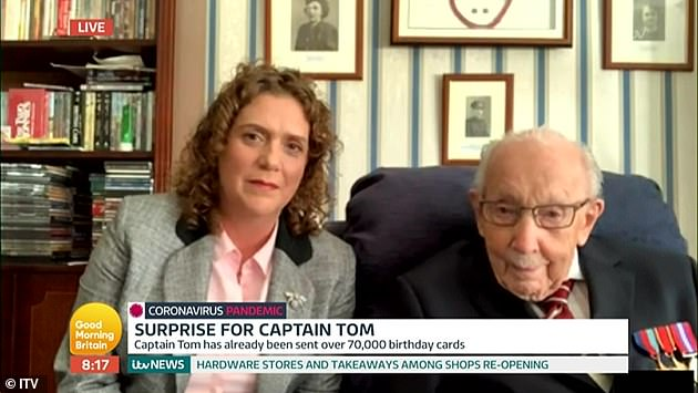 Milestone: Captain Tom will receive a Pride Of Britain award, his fundraising becoming the largest in JustGiving history