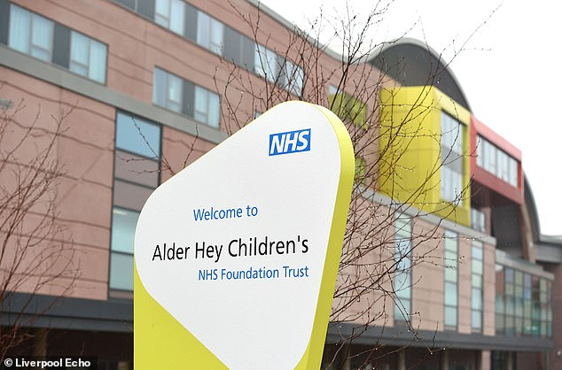 Doctors at Alder Hey Children's Hospital, above, told delighted Erin family that they had overcome their fear of coronaviruses
