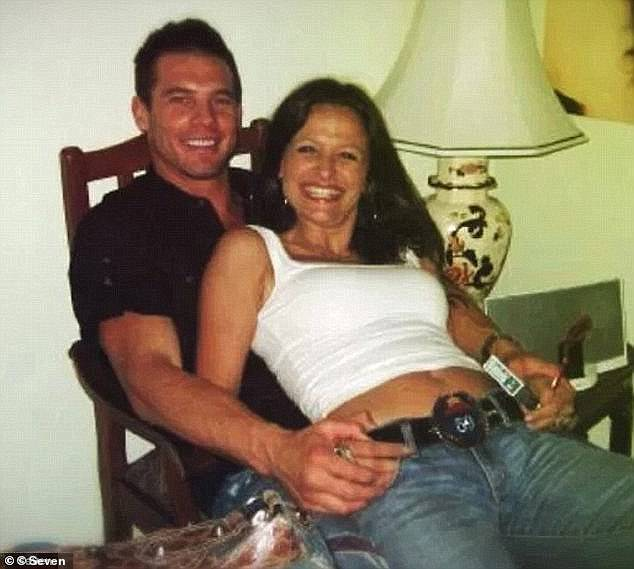 Ben Cousins (left) is pictured with his ex-partner Maylea Tinecheff (right). Cousins is now facing multiple counts of breaching a restraining order taken out by Ms Tinecheff