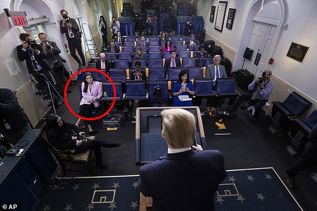 Moments later, Trump entered the room for the briefing but cut it short after 22 minutes, failing to take any questions from the press