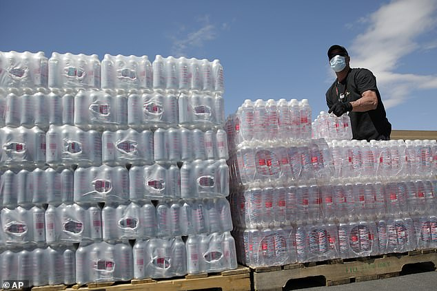 Households where the head of the household is 65 years and older are more likely to be prepared for resource-based items such as bottled water (pictured)