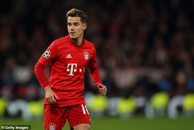 Coutinho spent the season on loan at Bayern Munich but failed to convince them