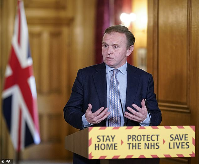 Environment Secretary George Eustice (pictured) said on Sunday he expected there to be a need to recruit staff in the UK to harvest crops at the start of summer