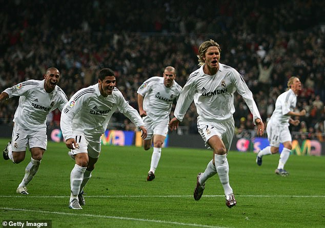 The right midfielder joined the Spanish and European giants of Real Madrid in the summer of 2003