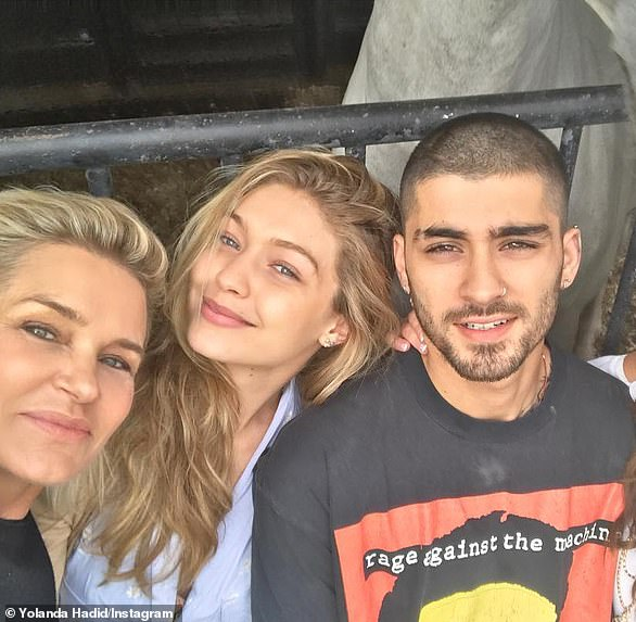 A hit with the family: The pair began vacationing together with Gigi's mother Yolanda