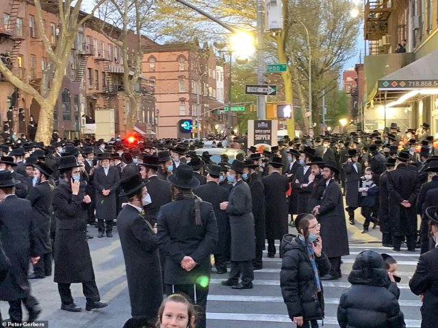 Brooklyn, NY: The funeral was held for Rabbi Chaim Mertz who died from coronavirus