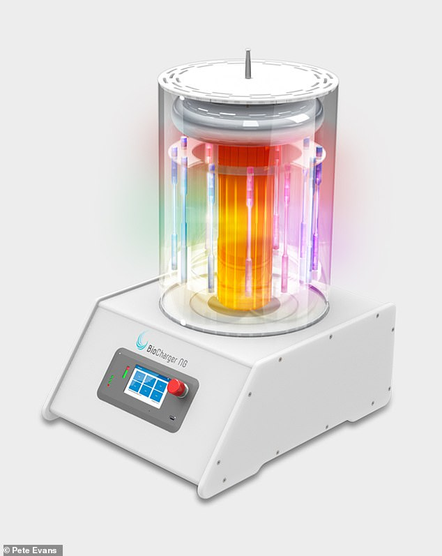 Device: The machine claims to use 'light, frequencies and harmonics, pulsed electromagnetic fields (PEMFs) and voltage'. There is no evidence the BioCharger has any effect on COVID-19