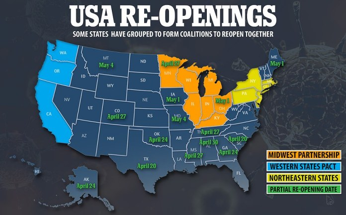 Maine is the first state in the Northeast to partially reopen its economy in the midst of the coronavirus pandemic. The state will allow some businesses - including outdoor movie theaters, hair salons and salons, dog groomers and car dealers - to reopen on Friday